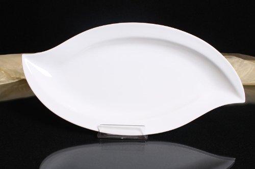Servierteller Porzellan weiß Flachteller Dekoteller Gastronomiebedarf