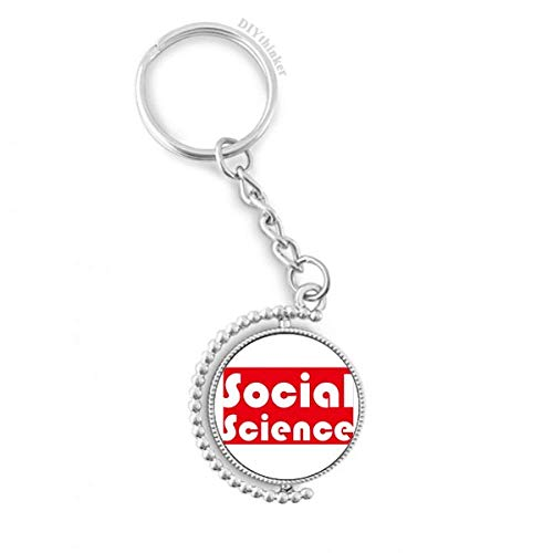 DIYthinker Kurs und die wichtigsten Sozialwissenschaften Rot Drehbare Schlüsselanhänger Ringe 1.2 Zoll x 3.5 Zoll Mehrfarbig