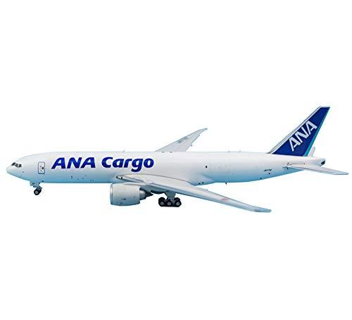 1:400スケール旅客機B777-200F ANAカーゴアロイダイキャストモデル、アダルトギフトおよびグッズ、6.3インチX6インチ