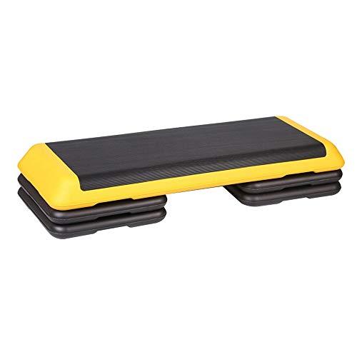 Stap Platforms, 3 Niveaus Hoogte Verstelbare Aerobic Stap Indoor Fitness Stepper Board Met Niet Slip Rubber Oppervlak Geel Trappen Verhogen Platform