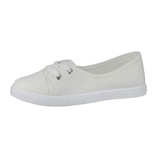Elara Bailarina Mujer Sneaker con Cordones Chunkyrayan Blanco CL33311 White-42