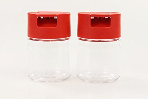 TUPPERWARE Condiserve Collectin 130 ml (2) Doseur sucre et sel rouge