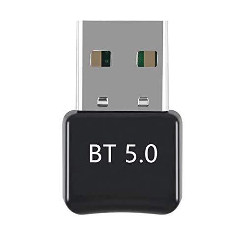 Rpanle Adaptador Bluetooth 5.0 USB, Bluetooth Transmisor y Receptor para PC, TV, Auriculares, Altavoces, Radio, Compatible con Windows 10/8/8.1/7, XP/Vistav
