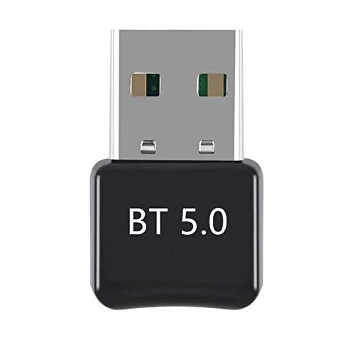 Rpanle Adaptador Bluetooth 5.0 USB, Bluetooth Transmisor y Receptor para PC, TV, Auriculares, Altavoces, Radio, Compatible con Windows 10/8/8.1/7, XP/Vistav