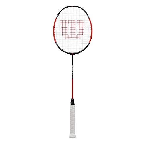 Wilson Badminton-Schläger, Blaze 270, Unisex, Griffstärke: 4, Schwarz/Rot, Kopflastig, WRT89160U4