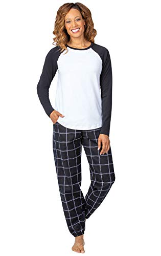 Addison Meadow Christmas Pajamas for Women - Flannel PJs for Women, Raglan Top