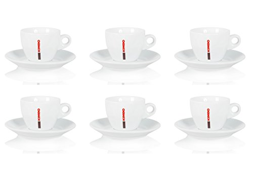 Kimbo 6X Cappuccinotasse - Bar Collection - Sparset Kaffeetassen - 6er Set