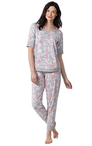 Addison Meadow Pajamas for Women - Womens PJs Sets, Gray, Medium / 8-10