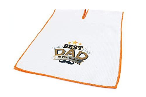 Center Cut Microfiber Golf Towel 16'x40' (Best Dad in The World)