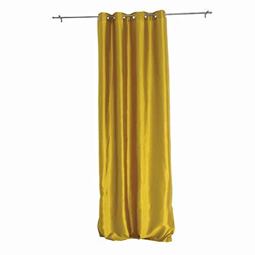 Tenda Per Interni Ad Occhielli Mod. FABIANA,Colore Oro - Mis. 140 X 290 Cm,Tinta Unita - Semi-Coprente B06ZZXMQDX
