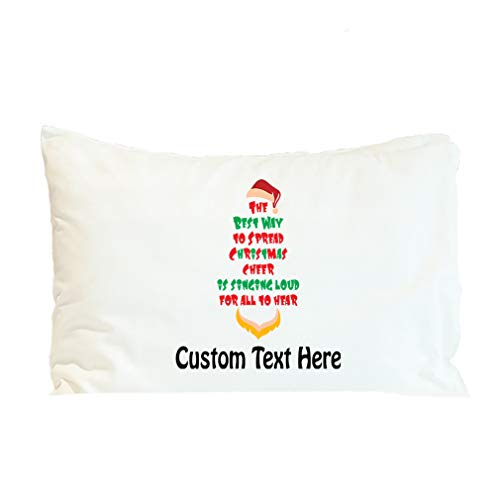 Style In Print Custom Pillow Case The Best Way to Spread Christmas Xmas Cheer Santa Holidays and Occasions Polyester Home Decor Bed Pillow Covers Personalized Text Here 30x20 Inches