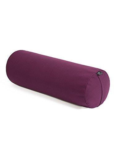 Yoga Studio - Cuscino a cilindro Bolster, per yoga, in grano saraceno biologico, prodotto a mano in Europa, Lilac
