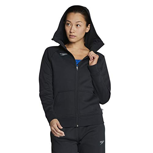 Speedo Women's Sweatshirt Full Zip Hooded Jacket Team Warm Up