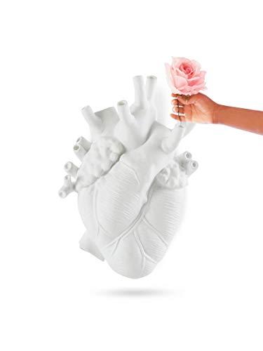 SELETTI LOVE IN BLOOM GIANT Vaso Cuore Gigante in resina cm.42x20 h.60