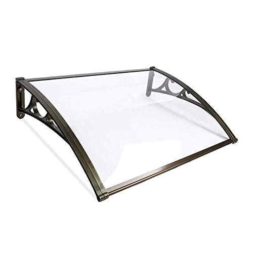 WXQ Patio Porch Awning Shelter Door Canopy Awning Shelter Porch Awning Rain Shelter Protects From Sun, Rain, Sleet Or Snow Patio Porch Awning Shelter (Color : Clear, Size : 80cmx80cm)