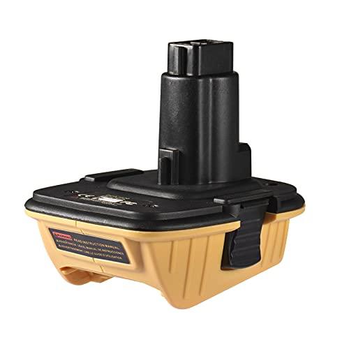 Adaptador de batería DCA1820 con reemplazo de Puerto USB para el Adaptador Dewalt 18V a 20V, convertir DCB204 DCB205 DCB204 DCB204 DCB206 DCB206 DC9096 DC9099 DC9099 DC9099 DC9099 DC9099