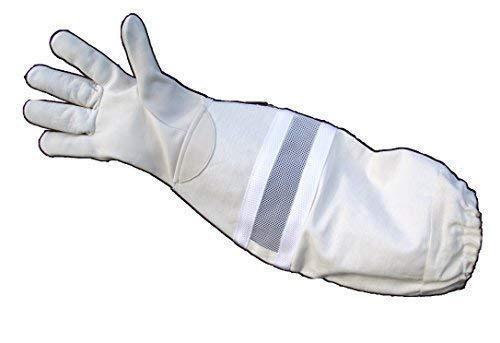 Echt Leder Spezial Imkerhandschuhe mit Ventilation - 3-fach Stulpe, innenbelüftet - Größen 7-11