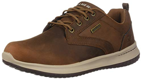 Skechers Delson-Antigo, Zapatos de Cordones Oxford para Hombre, Marrón (Brown...
