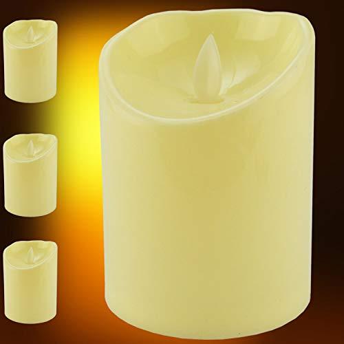 Vela Led Eletrônica Chamejante Amarelo 3 peças CBRN10639