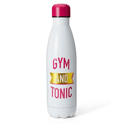 Tri-Coastal Design Cute Functional 17oz Insulated Sports Metal Water Bottle, BPA-Free (Gym & Tonic)