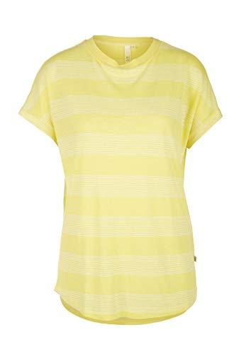 Q/S designed by T-Shirt, Giallo (Striscia di Sorbetto al Limone 11G0), XS Donna