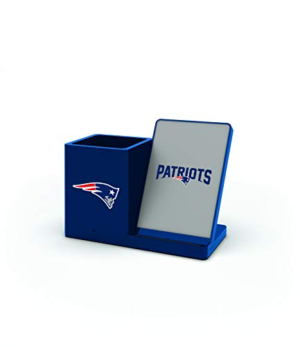 NFL New England Patriots Wireless Charger and Desktop Organizer, Team Color