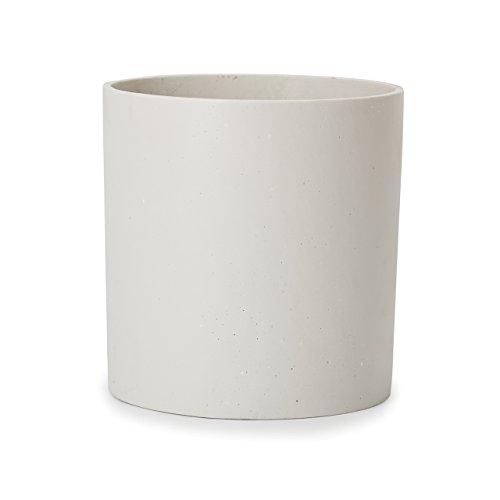 植木鉢 大型 ホルスド シリンダー 鉢カバー M 10号 ホワイト