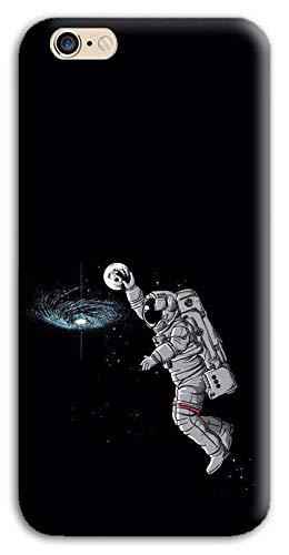 Mixroom - Cover Custodia Back Case in TPU Silicone Morbido per Apple iPhone 6 6s Fantasia Astronauta Che Gioca A Basket M679