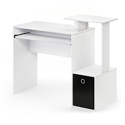 FURINNO Econ Multipurpose Home Office Computer Writing Desk White/Black