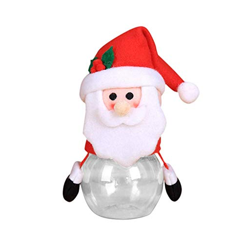 Christmas Candy Jar Food Storage Container Santa Cute Sugar Box Decorative Bottles Xmas Decor Gift