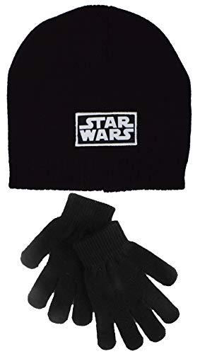 Star-Wars-Mütze und Handschuhe für Kinder, Schwarz, 4-8 Jahre