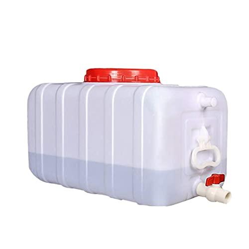 50L Tanque De Agua Al Aire Libre Camping Portátil Camión Contenedor De Almacenamiento De Agua Horizontal Hogar Grueso Plástico Rectangular Bebedero con Grifo Y Tapa A++