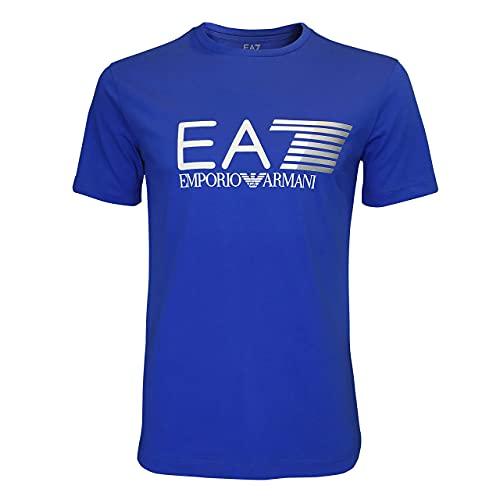 Emporio Armani EA7 3ZPT62 PJ03Z - Camiseta de manga corta para hombre azul cobalto L