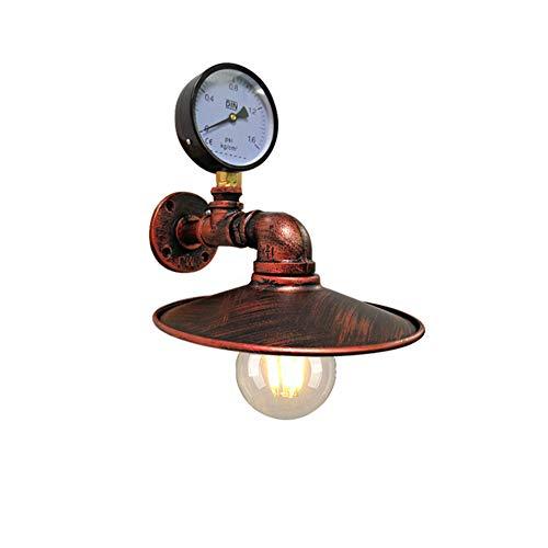 SANTITY Aplique Pared E27 Vintage Industrial Metal Tubo Lampara Creativo Diseño Lámpara de Pared para Cocina Salón Dormitorio Escaleras Corredor, Steampunk Estilo, Luz Interior Decoración