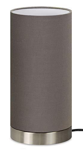 """Trango Tischleuchte, Nachttischlampe, Schreibtisch Leuchte Lampe TG2018-09B I\""""Brownie\"""" I mit Stoffschirm in Braun Durchmesser 120mm, Höhe: 255 mm"""