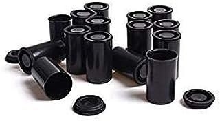 100 Pcs Black Plastic Film Canisters
