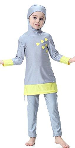 TianMai Mädchen Kinder Muslimische Bademode Islamische Schwimmanzug Badeanzug Burkini Muslim Swimwear (N3, 150cm)
