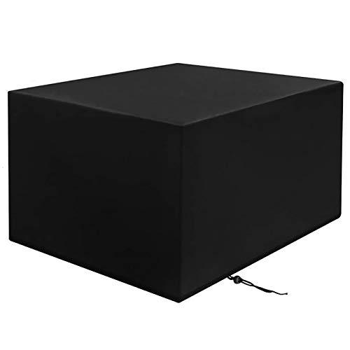 XXYANZI Funda Sofa Exterior Impermeable 87x87x72cm, Rectangular Lona para Muebles de jardín Impermeable Anti-UV para baul PVC Jardin - Negro
