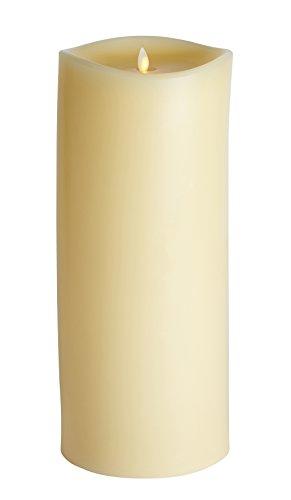 Luminara Vela Led Gigante 16cm Ø x 37cm Llama Fija, Parafina, Marfil