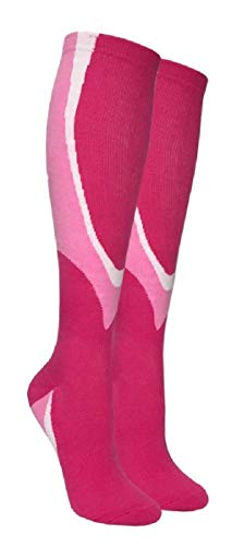 Heavy Cushion Compression Socks for Men & Women, Best for Sports and Medical in Pink