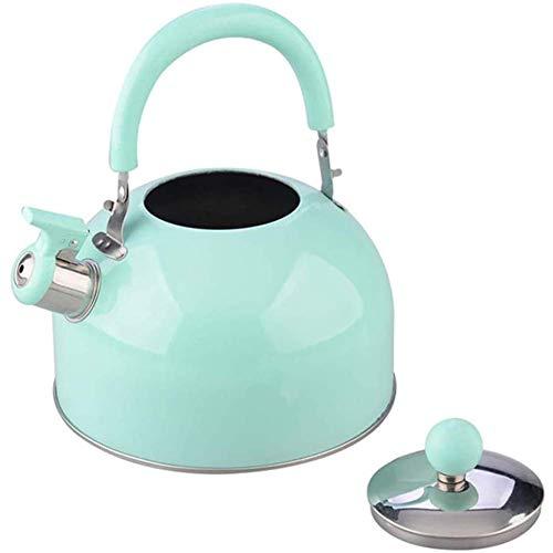 Siffling Bouilloire en acier inoxydable Sifflant Tea Bouilloire Bouilloire de chauffage de l'eau Bouilloire for cuisinière avec poignée Théière à eau chaude Xping
