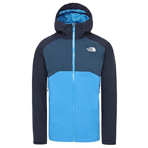THE NORTH FACE M Stratos Jacket Colorblock-Blau, Herren Regenjacke, Größe XL - Farbe Clear Lake Blue - Urban Navy - Blue