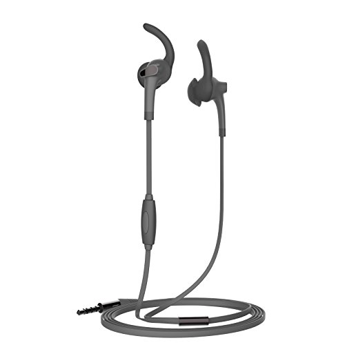 Muvit M1S - Auriculares in-Ear Deportivos (estéreo, 3.5 mm), Color Negro