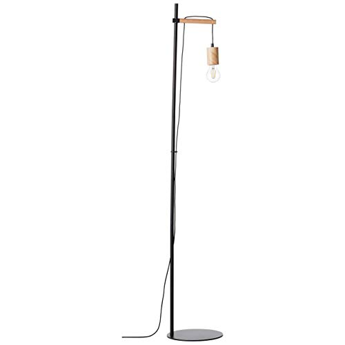 Brilliant 99080/06 - Lámpara de pie de madera, color negro y claro