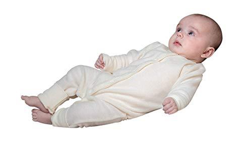 vilma kenti Baby Overall aus Reiner Merinowolle Frotteeoptik Gr.56,62,68 (62, Natur)