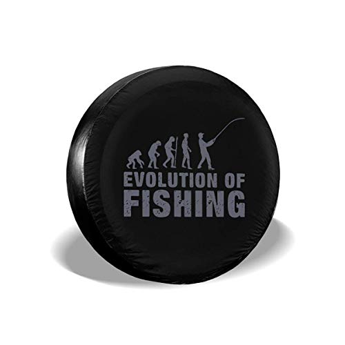 YuYfashions Evolution Fishing Spare Wheel Tire Cover Sunscreen for 14 15 16 17 Inch Tire Diameter Cubierta del neumático