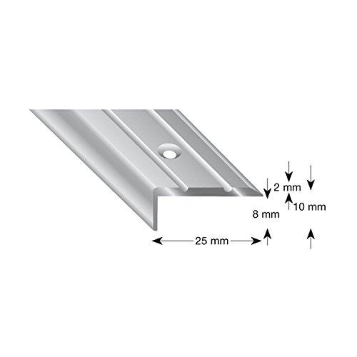 Kogele 105B B 100 traphoek aluminium brons geanodiseerd, geperforeerd, 25/10/1000 mm