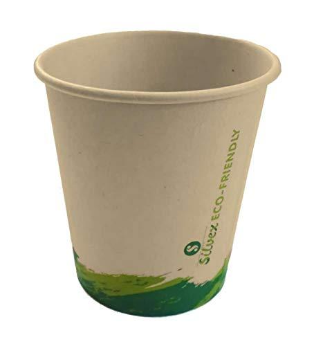 Silvex Pack 100 Vasos de cartón biodegradables 210cc Vaso reciclable Carton Agua Cafe