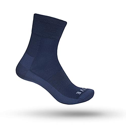 GripGrab Merino Lightweight SL Fahrrad Socken mit Merinowolle Atmungsaktive Gemütliche Ganzjahres Radsport Strümpfe, Navy Blau, M (41-44)