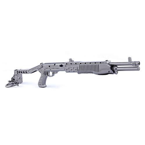 BYWL 1/6 Metal Spas-12 Escopeta Aleación Arma Acción Figura Artes Llavero Regalo Modelo Juguete Prop Decoración Colgante